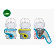 4oz (Set of 3 pcs) Miracle Bean Neoprene Baby Bottle Sleeves – Adjustable Sleeves. Glass Bottles...