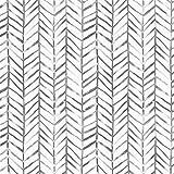 Timeet Papel Pintado Pared Moderno con Diseño de Espiga, Color Gris/Blanco, Vinilo, Autoadhesivo, Decorativo, Papel Adhesivo para Muebles,Cajones,Manualidades 45 cm x 5 m