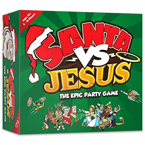 Santa VS Jesus - The Epic Christmas Party Card Game for Families, Friends, Adults, Large Groups and board game enthusiasts.