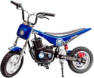 Burromax Blue TT250 Electric Motorcycle Dirt Bike for Kids | Fast and Long Lasting 24V 250W Charge | Ride On Mini Pocket Bike Off Road 20003