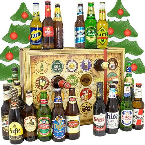 Bieradventskalender für Männer/Adventskalender 2019 24 Biersorten in Flaschen
