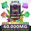 (3 Pack) GPGP Greenpeople Hemp Gummies 60,000mg Extra Strength -180ct - 100% Natural Hemp Oil Infused Gummies, Promotes Focus Calm, Sleep and Calm Mood #3