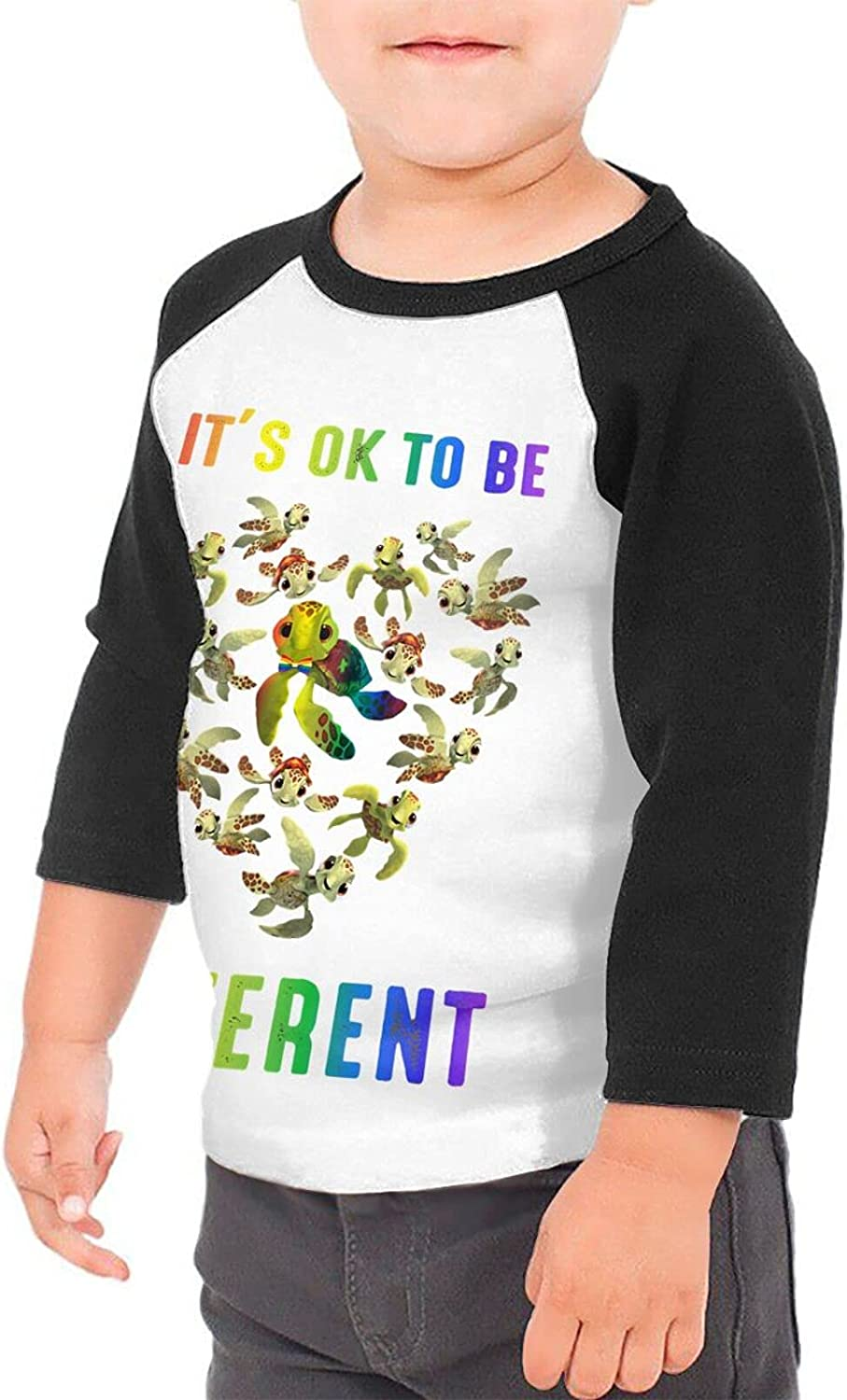 Turtle Love to Be Different Lgb T-Shirts Novelty for Youth Tees with Cool Designs