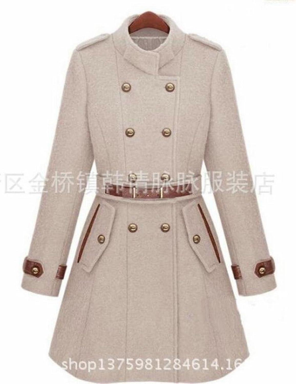 Yayu Womens Warm Classic Longsleeves Double Breasted Pea Coat