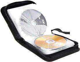 BlueCubi 40 Capacity Portable CD DVD Wallet Binder Book Sleeves Disc Storage Bag Car Use Carrying Case