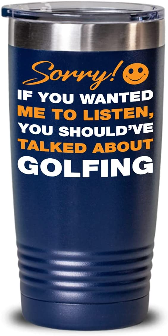 FUNNY TUMBLER CUP - Golf Tumbler Lover Lid Deluxe With Chicago Mall Cup Gift