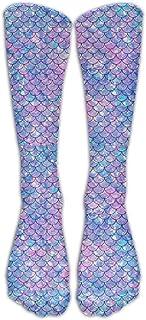 ulxjll, Calf Sock Mermaid Tail Calcetines Deportivos Largos Para Mujeres Enfermera Médica Hombres Adolescentes Niños Niñas Fútbol Viaje Unisex Mujeres Adultas Calcetines De Compresión Calcetines De Equip