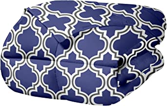 Superior Trellis Comforter Set with Pillow Shams, Luxurious & Soft Microfiber with Down Alternative Fill, Contemporary Geo...