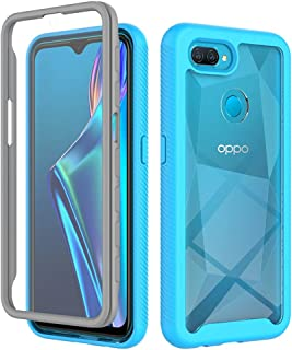 """MOONCASE Case for Oppo A12, Ultra-Thin Soft TPU Bumper Shockproof Case Transparent PC Design Back Cover for Oppo A12 6.22""""..."""
