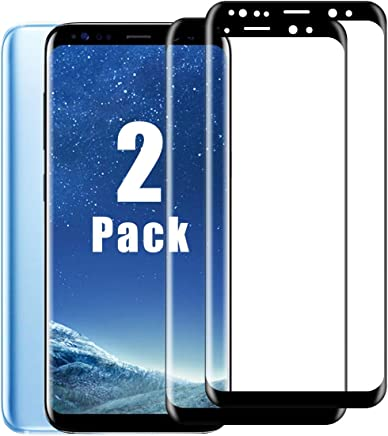 Galaxy S8 Screen Protector [2 Pack], Amazingforless Tempered Glass Screen Protector 3D Full
