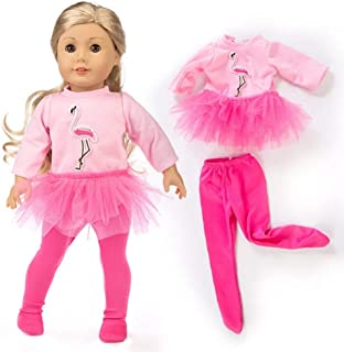 yijing Cute Ostrich Style Doll Clothes Outfits Set for 18 Inch American Toy Girl Doll Accessory Toy Gift (Pink)
