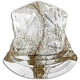 Archiba Aguafuerte Bison Winter Neck Gaiter WarmerFace Mask para Clima frío Running Outdoor Scarf