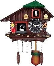 Oreva Vintage Style Farm House with Dancing Couple Plastic Cuckoo Clock (35.5 cm x 13 cm x 30.5 cm, Brown, AQ-4187)