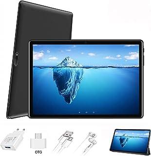 Tablet 10 Pulgadas 4G FHD 64GB de ROM 4GB de RAM Android 9.0 Certificado por Google GMS Tablet PC Procesador de Quad Core Batería 8500mAh Dual SIM 8MP Cámara WiFi,Bluetooth,GPS,OTG(Negro)