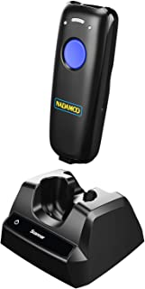 NADAMOO Wireless Barcode Scanner Bluetooth Compatible, with Charging Dock, Small Portable USB 1D Bar Code Scanner for Inventory, 2.4G Wireless & Wired Barcode Reader for Tablet iPhone iPad Android iOS