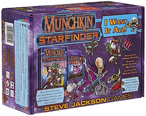 Steve Jackson Games SJG04476 Munchkin Starfinder: I Want it All (Big Box), Mehrfarbig