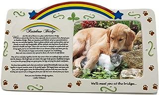 BANBERRY DESIGNS Pet Bereavement Photo Frame Rainbow Bridge Poem