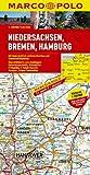 MARCO POLO Karte Niedersachsen, Bremen, Hamburg 1:200.000 (MARCO POLO Karten 1:200.000) - Polo Marco