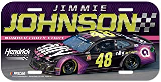 Win-craft Jimmie Johnson 2019 Ally Plastic Car NASCAR License Plate