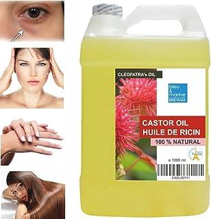 Ricinolja 1000 ml Kallpressad BÄST 100% ren Hår olja För hårväxt, Ansikte, Hudfuktighetskräm, Skalp, Tjockare ögonbryn Och...