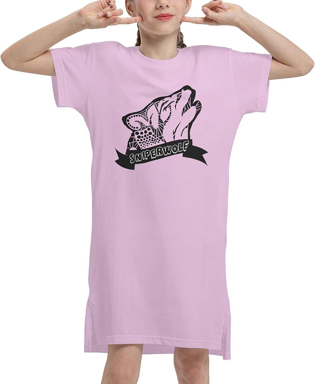 Bibuwaw Girl's Sleeveless Dress SSSniperWolf Casual Summer T-Shirt Playwear for Kids