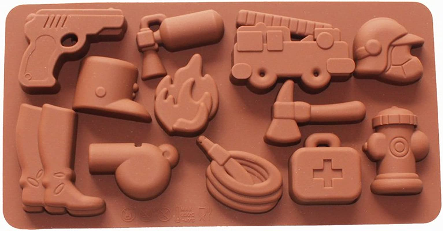 X Haibei Fire Fighting Equipment Shape Silicone Chocolate Candy Jello Soap Crayon Mold