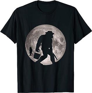 Cadeau amusant de pêche au sasquach pour la pêche à la perche T-Shirt