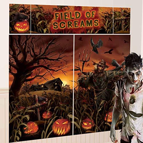 "Amscan 670452 Field Of Screams Scene Setters | Halloween Decorating Kit 59"" x 32 1/2"" 2 ct"