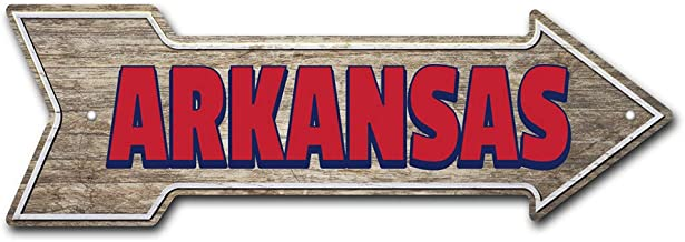 SignMission Arkansas Indoor/Outdoor | Direction Arrow Funny Home Décor for Garages, Living Rooms, Bedroom, Offices | Oklahoma Equine 12