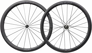 ICAN FL40 Carbon Road Bike Wheelset 40mm Clincher Tubeless Ready Rim 25mm Wide Straight Pull Sapim CX-Ray Spoke 1400g