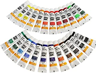AMERTEER 24-Piece Acrylic Paint Set 24x12ml Multicolour with palette and brush