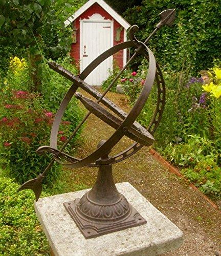 Unbekannt Grosse ENGLISCHE SONNENUHR 55cm HOCH GUSSEISEN ANTIK Nostalgie Stil Garten NEU