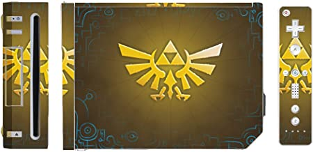 Legend of Zelda Ocarina of Time Skyward Sword Triforce Logo Video Game Vinyl Decal Skin Sticker Cover for the Nintendo Wii System Console