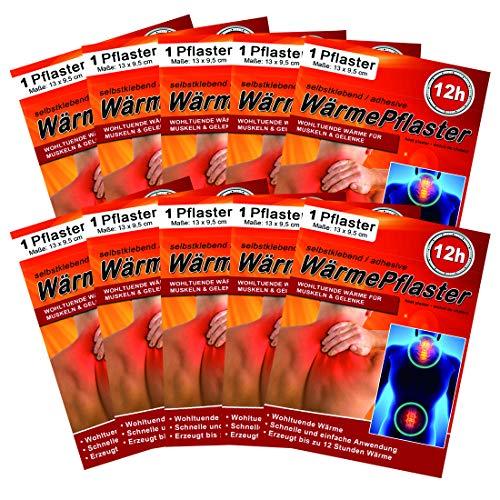 M&H-24 Wärmepflaster bis 12h für Rücken, Nacken, Bauch - Wärmekissen Wärmepads Rückenwärmer Nackenwärmer Wellnesprodukt für Massage & Entspannung Selbstklebend Set
