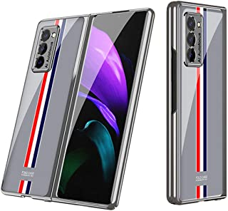 360 Full Protection Cover for Samsung Galaxy Z Fold 2 Case with Electroplating Frame & Anti-Drop Glass Back Cover (Limited...