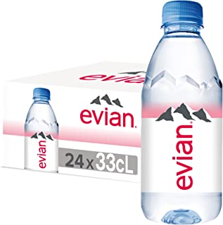 evian Mineral Water, Naturally Filtered Drinking Water, 330ml Bottled Water Crafted by Nature, Case of 24 x 330ml evian Wa...