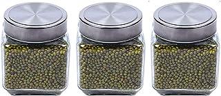 LLRZ Boite Alimentaire Verre Spice Botte Bouteilles Transparent Alimentaire Conteneurs Conteneurs Organisation de la Cuisi...