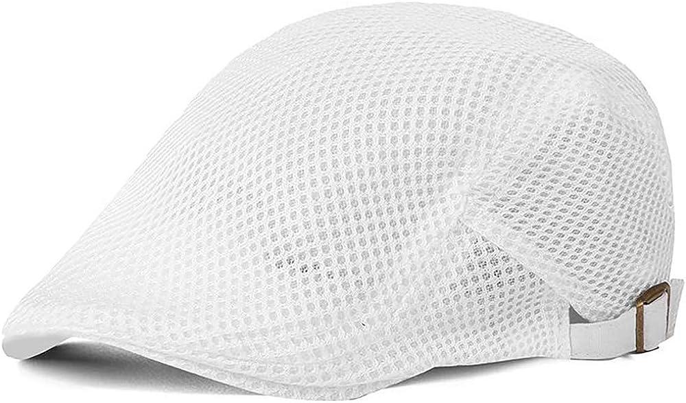 Glamorstar Over item handling ☆ Men's Mesh Summer Hat Flat Ivy Gatsby Newsboy Cap New product type