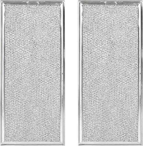 """Microwave Grease Filter Compatible with Whirlpool and GE Microwaves 2 Pack Approx 13"""" x 6"""""""