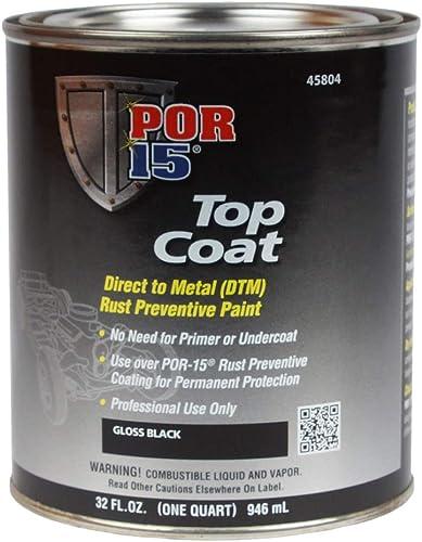 POR-15 45804 Top Coat Gloss Black Paint 32 fl. oz.