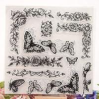 プレミアム DIYのアルバムスクラップブッキングフォトカードの装飾のための蝶クリアシリコンシールスタンプ 便利