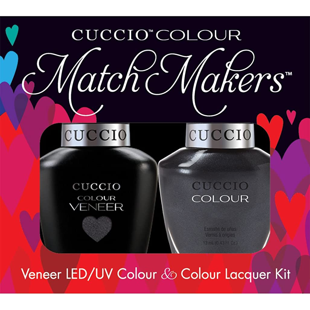 海紫の吸収剤Cuccio MatchMakers Veneer & Lacquer - Oh My Prague - 0.43oz / 13ml Each