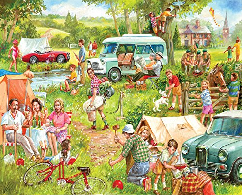 White Mountain Puzzles Happy Campers Puzzle, Multicolor 1000pc Jigsaw Puzzle 610mm x 760mm (wmp)