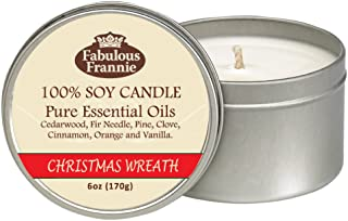 Fabulous Frannie Christmas Wreath All Natural Soy Candle 6oz