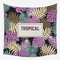 寝室の寮のための芸術家の装飾が付いているサイケデリックタペストリー多色自然壁タペストリー紫の熱帯の印象150cm X 150cm