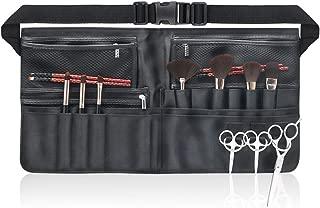 Beautypical Artist Professional Makeup Brush Waist Bag Cosmetic Portable Multi Pockets Bag with Belt Strap Black