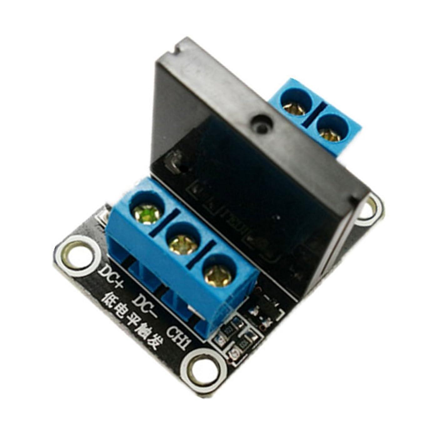 浮浪者科学的困惑したB Baosity 12V 1チャンネル ソリッド ステート リレー モジュール 抵抗ヒューズ G3MB-202P 電子部品 インストール簡単