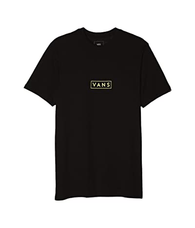 Vans Easy Box Short Sleeve T-Shirt (Black/Yellow Cream) Men