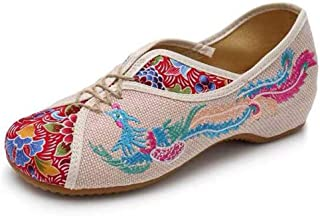 Embroidered Chinese Style Flats Ballet Embroidery Crafts Women's Shoes Red White Black Blue