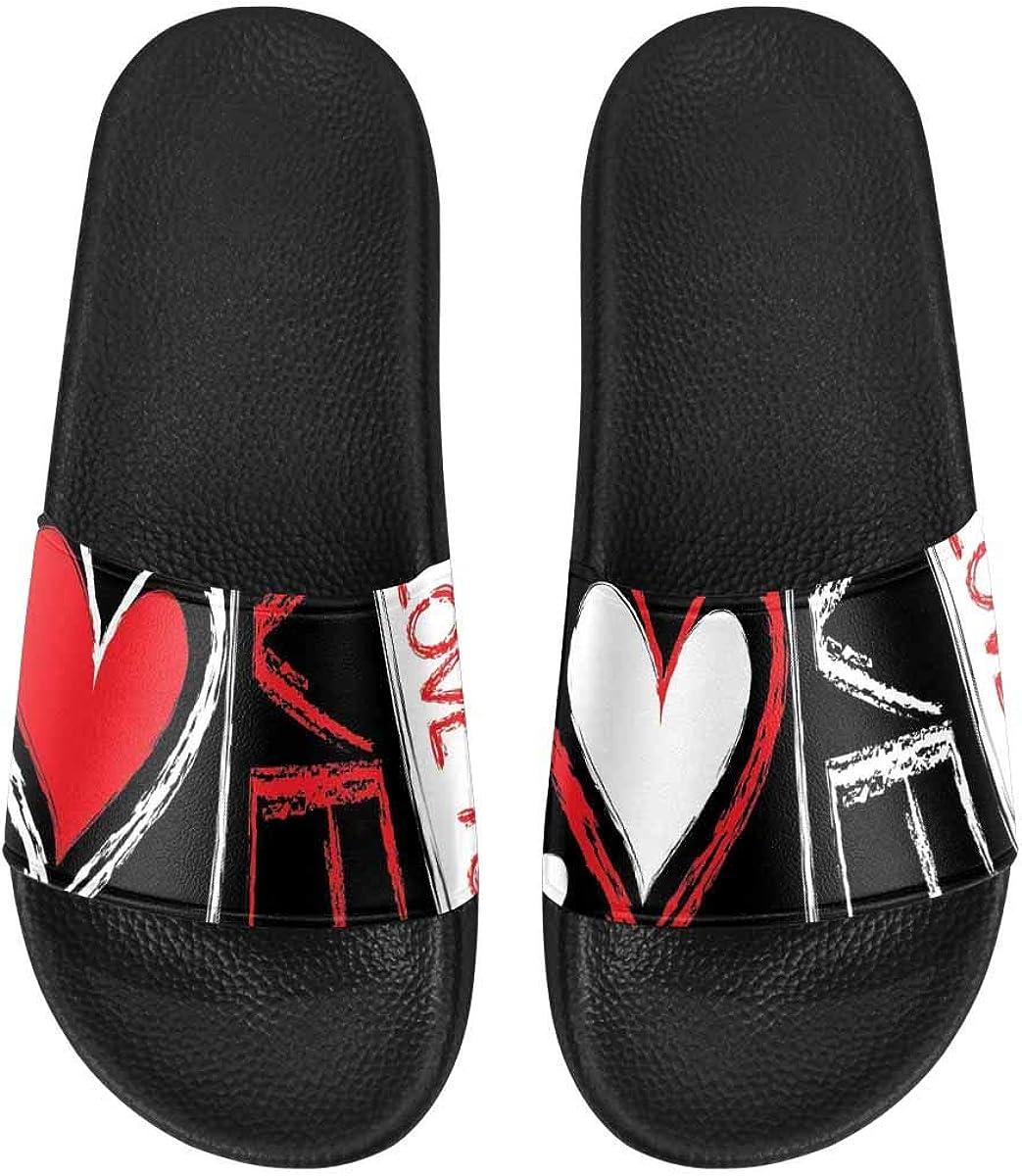 InterestPrint Women's Stylish Slipper Sandals for Summer Love Birds Flowers